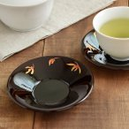 Yahoo!テーブルウェア イースト茶托 丸型12cm ラン 溜 茶たく ちゃたく コースター 茶器 来客用 おもてなし 受け皿 小皿 和食器 キッチン雑貨 カフェ食器 カフェ風 和モダン おしゃれ 花柄