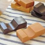 木製 スクエア箸置き     キッチン雑貨 キッチン用品 木の箸置き ウッド 木の雑貨 プチギフト ナチュラル雑貨