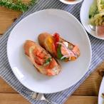 和角 中皿(白) 19.5cm    ケーキ皿 サラダ皿 お皿 プレート 白い食器 洋食器 ポーセリンアート