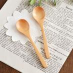 口当たりの良いなめらかな仕上がりの木製スプーン ハンドメイド     スプーン ナチュラル カトラリー ティースプーン こども食器