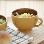 カラメルトルテ 塗り分けスープカップ カラフルな食器 おうちカフェ マグカップ スープカップ スープボウル シンプル かわいい おしゃれ 日本製 美濃焼