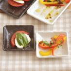 角皿 しょうゆ皿 正角皿 ケズリ 10cm  和食器 和皿 小皿 漬物皿 お皿 黒曜 粉引 日本製 美濃焼