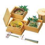 木和美 正角料理箱三段セット     木製 お弁当箱 おべんとうばこ ナチュラル ボックス 業務用