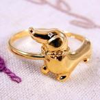アニマル リング アクセサリ ペット 動物 犬 ドッグ ダックスフンド ダイヤモンド 指輪 天然石
