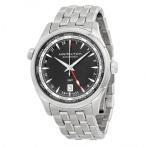 ショッピングハミルトン Jazzmaster Black Dial GMT Stainless Steel Men's Watch
