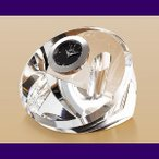 ガラス製テーブルギフト・ルナプレシャス・ペンスタンドサークル(トロフィー)LS-52(文字・図案彫刻代無料)