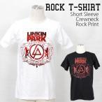 ロックtシャツ バンドtシャツ パンク Linkin Park リンキン パーク Mサイズ Lサイズ 黒色 白色 グレー