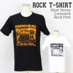 ロックtシャツ バンドtシャツ パンク レディオヘッド Radiohead コミックロゴ Mサイズ Lサイズ 黒色 白色 ライトブルー  黄色
