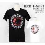 ロックtシャツ バンドtシャツ パンク レッド ホット チリ ペッパーズ 立体ロゴ Mサイズ Lサイズ 黒色 白色
