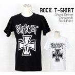 ロックtシャツ バンドtシャツ パンク Slipknot スリップノット M L XLサイズ 黒色 白色