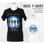 ロックtシャツ バンドtシャツ パンク Bon Jovi ボン ジョヴィ 歩く4人 Mサイズ Lサイズ 黒色 白色