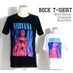 ロックtシャツ バンドtシャツ パンク バンドTシャツ NIRVANA ニルヴァーナ 赤い人 S M Lサイズ 黒色