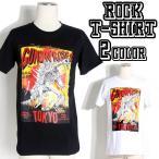 ロックTシャツ バンドTシャツ パンク Guns N' Roses ガンズ アンド ローゼズ 骨の恐竜 M L XLサイズ 黒色 白色