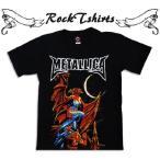 ロックtシャツ バンドtシャツ パンク Metallica メタリカ S M L XLサイズ 黒色