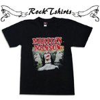ロックtシャツ バンドtシャツ パンク Marilyn Manson/マリリン マンソン Sサイズ Mサイズ Lサイズ 黒色