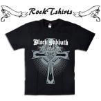 ロックtシャツ バンドtシャツ パンク BLACK SABBATH ブラック サバス Sサイズ Mサイズ Lサイズ 黒色