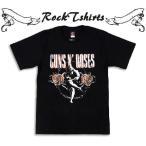 ロックtシャツ バンドtシャツ パンク Guns N' Roses ガンズ アンド ローゼズ M L XLサイズ 黒色