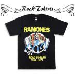 ロックtシャツ バンドtシャツ パンク Ramones ラモーンズ 破滅への道 Sサイズ Mサイズ Lサイズ 黒色