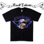 ロックtシャツ バンドtシャツ パンク Aerosmith エアロスミス ロイヤル ストレート フラッシュ XS,S,M,Lサイズ 黒色