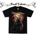 ロックtシャツ バンドtシャツ パンク Children Of Bodom チルドレン オブ ボドム 死神 Sサイズ Mサイズ Lサイズ 黒色