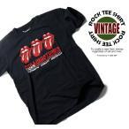 古着テイストロックTシャツ The Rolling Stones ザ ローリング ストーンズ 3連唇 黒色 S M Lサイズ