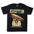 Yahoo!T-LINKロックtシャツ バンドtシャツ パンク LED-ZEPPELIN レッド ツェッペリン 飛行船イラスト Mサイズ 黒色