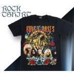 ロックtシャツ バンドtシャツ パンク Guns N' Roses ガンズ アンド ローゼズ Mサイズ 黒色