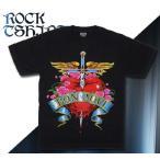 ロックtシャツ バンドtシャツ パンク BON JOVI ボン ジョヴィ Mサイズ 黒色