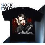 ロックtシャツ バンドtシャツ パンク Marilyn Manson マリリン マンソン M Lサイズ 黒色