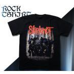 ロックtシャツ バンドtシャツ パンク SlipKnot スリップノット 記念写真 M Lサイズ 黒色