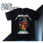ロックtシャツ バンドtシャツ パンク METALLICA メタリカ 悪魔 M Lサイズ 黒色