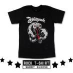 ロックtシャツ バンドtシャツ パンク Whitesnake ホワイトスネイク 蛇イラスト Mサイズ Lサイズ 黒色