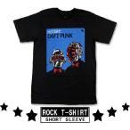 ロックtシャツ バンドtシャツ パンク Daft Punk ダフト パンク サイボーグの二人 Mサイズ Lサイズ 黒色