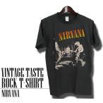ヴィンテージロックtシャツ バンドtシャツ パンク ニルヴァーナ カート コバーン Mサイズ Lサイズ 黒色