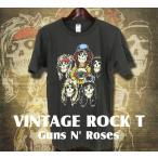 ヴィンテージロックtシャツ バンドtシャツ パンク ガンズ アンド ローゼズ Mサイズ Lサイズ 黒色