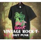 ヴィンテージロックtシャツ バンドtシャツ パンク DAFT PUNK ダフトパンク M Lサイズ 黒色