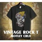 ヴィンテージロックtシャツ バンドtシャツ パンク MOTLEY CRUE モトリークルー M Lサイズ 黒色