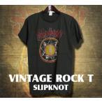 ヴィンテージロックtシャツ バンドtシャツ パンク SLIPKNOT スリップノット M Lサイズ 黒色
