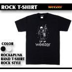 ロックtシャツ バンドtシャツ パンク Weezer ウィーザー Sサイズ Mサイズ Lサイズ 黒色 白色