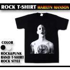 ロックtシャツ バンドtシャツ パンク Marilyn Manson マリリンマンソン スキンヘッドロゴ Sサイズ Mサイズ Lサイズ 黒色 白色