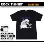 ロックTシャツ The Misfits ミスフィッツ 酒を飲む女 Mサイズ Lサイズ 黒色 白色