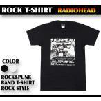 ロックtシャツ バンドtシャツ パンク レディオヘッド Radiohead Sサイズ Mサイズ Lサイズ 黒色 白色