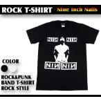 ロックtシャツ バンドtシャツ パンク NINE INCH NAILS ナインインチネイルズ Mサイズ Lサイズ 黒色 白色