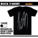 ロックtシャツ バンドtシャツ パンク KORN コーン デカロゴ Sサイズ Mサイズ Lサイズ 黒色 白色