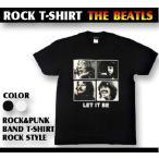 ロックtシャツ バンドtシャツ パンク THE BEATLES ビートルズ メンバー写真 Mサイズ Lサイズ 黒色 白色