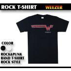 ロックtシャツ バンドtシャツ パンク weezer ウィーザー シンプル クールロゴ Mサイズ Lサイズ 黒色 白色