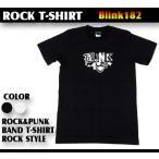 ロックtシャツ バンドtシャツ パンク BLINK182 ブリンク182 オシャレロゴ Mサイズ Lサイズ 黒色 白色