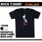 ロックtシャツ バンドtシャツ パンク パール ジャム ロケットロゴ Mサイズ Lサイズ 黒色 白色