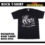ロックtシャツ バンドtシャツ パンク The Offspring オフスプリング 骸骨イラスト M Lサイズ 黒色 白色