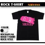 ロックtシャツ バンドtシャツ パンク ニルヴァーナ NIRVANA ペンキロゴ Mサイズ Lサイズ 黒色 白色